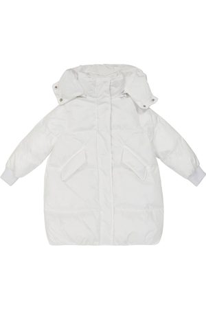 MM6 Maison Margiela Kids Quilted hooded puffer coat