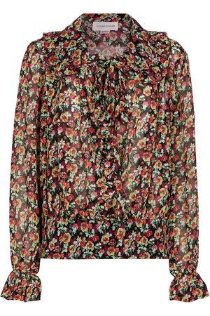 Victoria Beckham Floral silk blouse