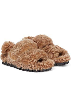 Miu Miu Shearling sandals