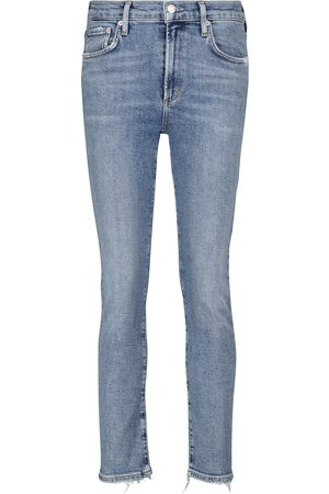 AGOLDE Mid-rise slim jeans