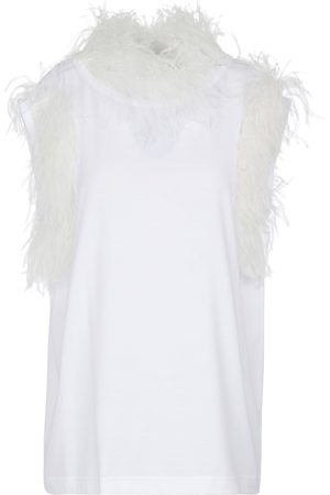 Dolce & Gabbana Feather-trimmed tank top