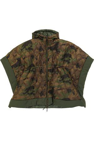 Il gufo Hooded camouflage cape
