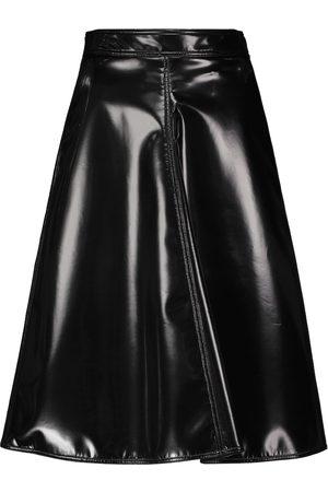 Moncler Genius 2 MONCLER 1952 faux leather midi skirt