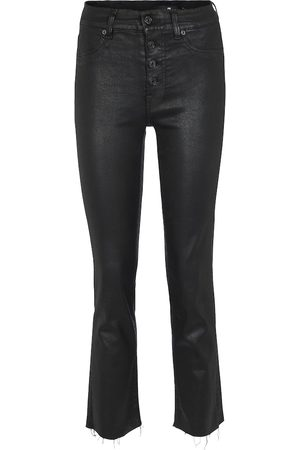 7 for all Mankind The Straight Crop high-rise jeans