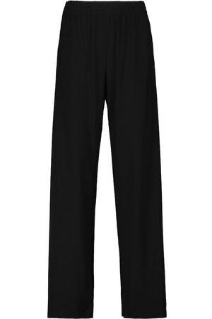 Norma Kamali Striped-band sweatpants