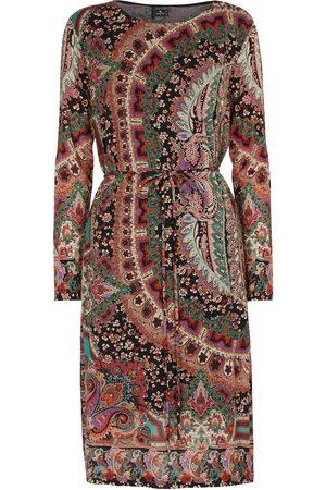 Etro Printed wool-blend jersey midi dress