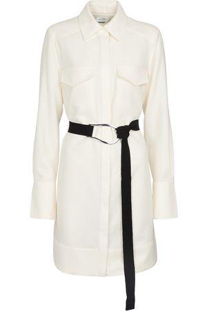 Victoria Victoria Beckham Long-sleeved belted wool minidress