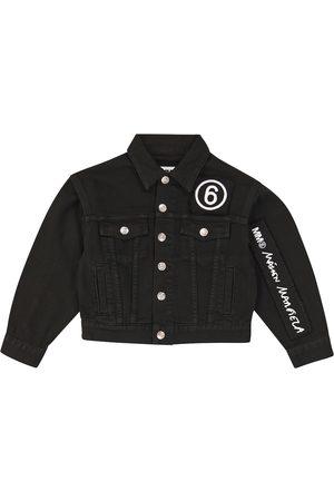 MM6 Maison Margiela Kids Logo-embroidered jeans jacket