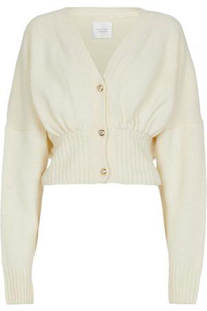 GALVAN Luna wool and cashmere-blend cardigan