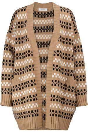 Max Mara Miele intarsia wool and cashmere cardigan