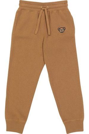Burberry Thomas Bear cashmere-blend sweatpants