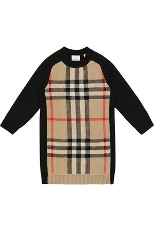 Burberry Checked sweater dress