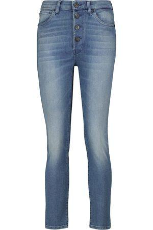 3x1 Dames Skinny - Poppy mid-rise cropped skinny jeans