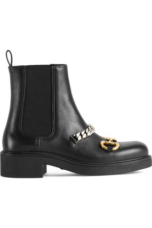 Gucci Women's Chelsea boot with chain