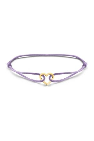 Just Franky Dames Armbanden - Iconic Heart Cord armband