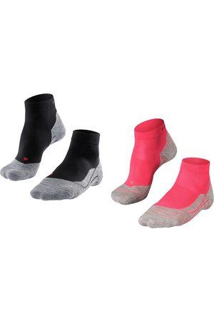Falke Dames RU4 halfhoog 2-pack zwart & roze
