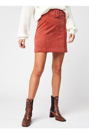 VILA Viadela Corduroy Hw Short Belt Skirt by