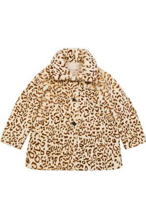 BONPOINT Meisjes Bontjassen - Leopard-print faux fur coat