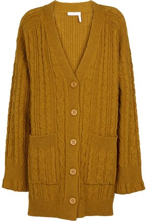 Chloé Dames Cardigans - Cable-knit wool-blend cardigan