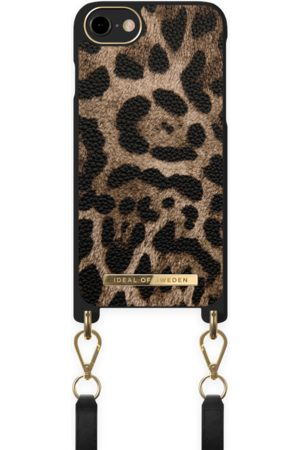 IDEAL OF SWEDEN Atelier Necklace Case iPhone 8 Midnight Leopard