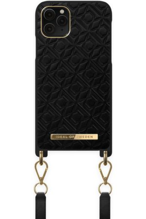 IDEAL OF SWEDEN Atelier Necklace Case iPhone 11 Pro Embossed Black
