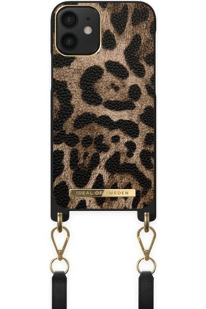 IDEAL OF SWEDEN Atelier Necklace Case iPhone 12 Mini Midnight Leopard
