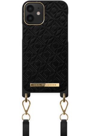 IDEAL OF SWEDEN Atelier Necklace Case iPhone 12 Mini Embossed Black
