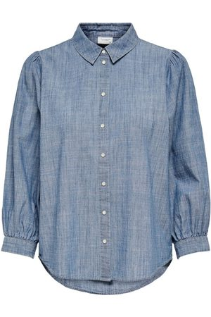 ONLY 7/8 Sleeved Shirt Dames Blauw