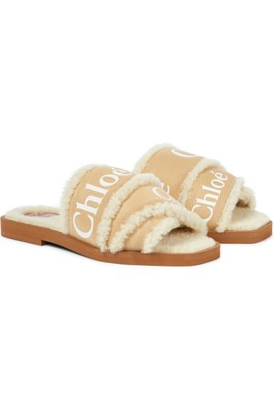 Chloé Woody shearling-lined slides