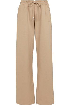 Frame High-rise cotton-blend sweatpants