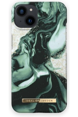 IDEAL OF SWEDEN Telefoon - Fashion Case iPhone 13 Golden Olive Marble