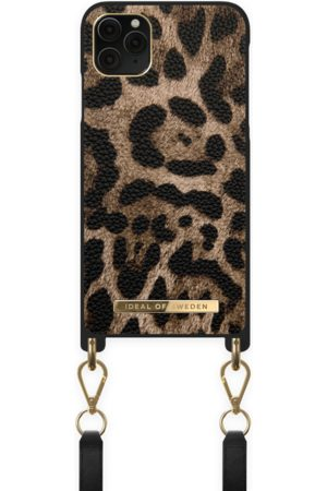 IDEAL OF SWEDEN Dames Telefoon - Atelier Necklace Case iPhone 11 Pro Max Midnight Leopard