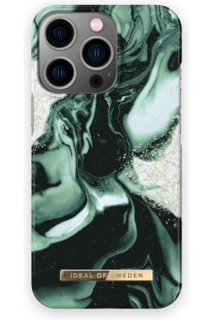 IDEAL OF SWEDEN Telefoon - Fashion Case iPhone 13 Pro Golden Olive Marble