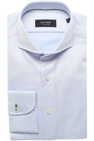 Olymp Heren Lange mouwen - Tailored Fit Overhemd lichtblauw, Effen