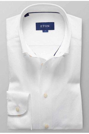 Eton Heren Lange mouw - Slim Fit Poloshirt lange mouw , Effen