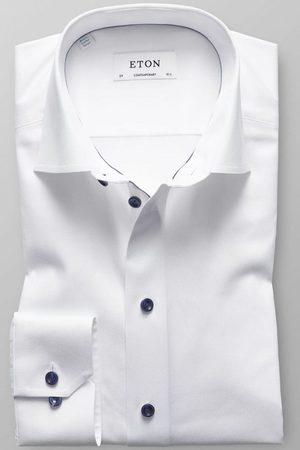 Eton Heren Lange mouwen - Contemporary Fit Overhemd , Effen