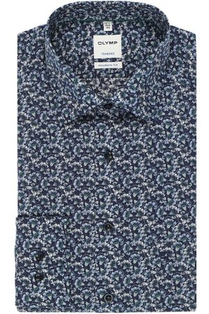 Olymp Heren Lange mouwen - Tendenz Modern Fit Overhemd , Bloemen