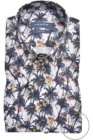 Ledub Heren Lange mouwen - Modern Fit Overhemd , Motief