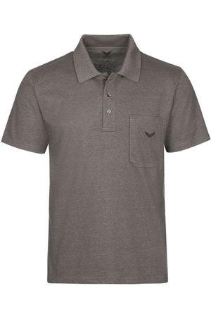 Trigema Heren Korte mouw - Comfort Fit Polo shirt Korte mouw taupe, Melange