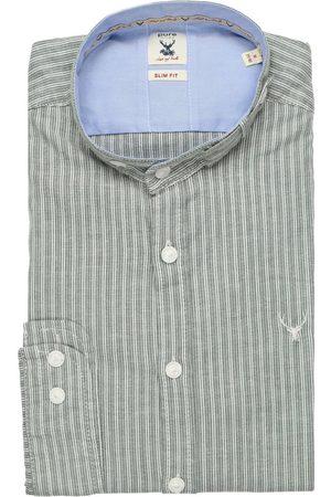 Pure Heren Lange mouwen - Slim Fit Traditioneel overhemd , Gestreept