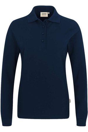 HAKRO Heren Poloshirts - 215 Regular Fit Dames poloshirt met lange mouwen nachtblauw, Effen