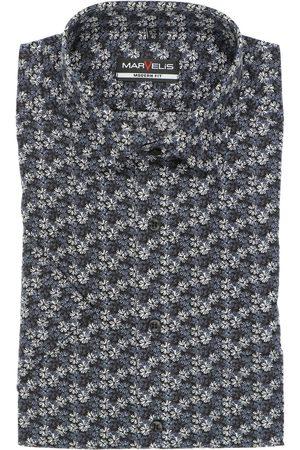 Marvelis Heren Korte mouwen - Modern Fit Overhemd Korte mouw / , Bloemen