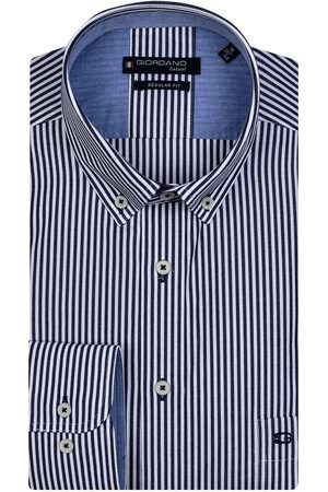 Giordano Heren Lange mouwen - Regular Fit Overhemd , Gestreept