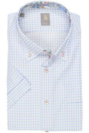Jacques Britt Heren Korte mouwen - Custom Fit Overhemd Korte mouw / , Ruit