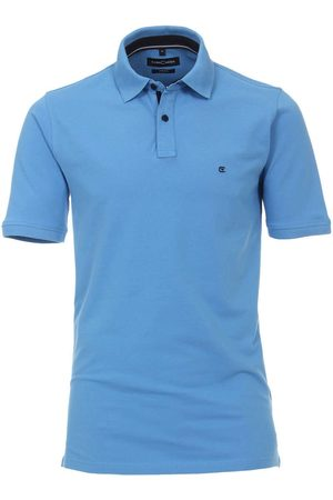 Casa Moda Casual Fit Polo shirt Korte mouw koninklijk, Effen