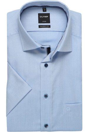 Olymp Heren Korte mouwen - Luxor Modern Fit Overhemd Korte mouw , Faux-uni