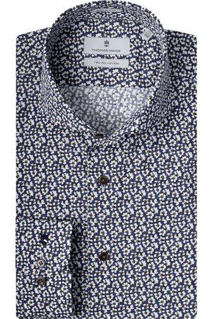 Thomas Maine Heren Lange mouwen - Bari Tailored Fit Overhemd marine, Bloemen