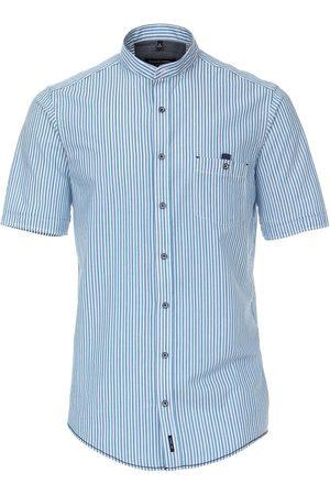 Casa Moda Heren Korte mouwen - Casual Fit Overhemd Korte mouw turquoise, Effen