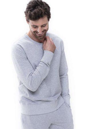 Mey Heren Lange mouw - Enjoy Regular Fit Sweatshirt ronde hals lichtgrijs, Effen