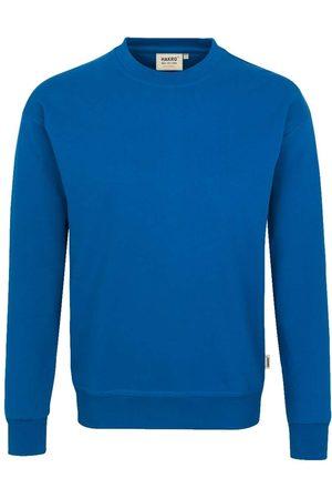 HAKRO Heren Lange mouw - 475 Comfort Fit Sweatshirt ronde hals koninklijk, Effen